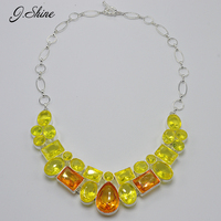 JShine Unique Costume Jewelry Crystal Geometric Colar Necklaces Pendants Collier Silver Plated Maxi Necklace Christmas Gifts