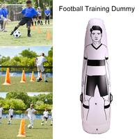 1.75m Adult Children Inflatable Football Training Goal Keeper Tumbler Air Soccer Train Dummy Penalty Equipment Outdoor Sports