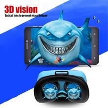 VR-HERE Mini Smartphone 3D Virtual Reality Glass Headset VR Glasses Helmet vrbox Head Mount for 4.7″-6.0″ Smartphone +Head Strap