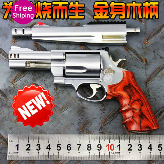Scaled 1:2.05 15cm wooden handrail smith & wesson m500 pistol model toy...