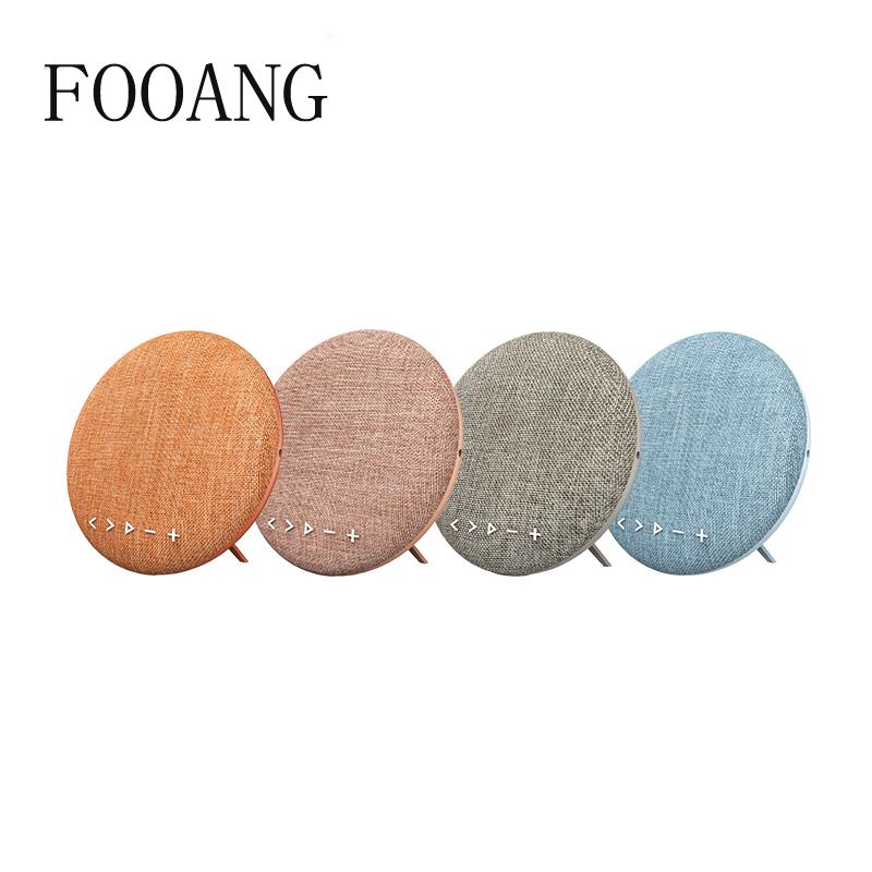 FOOANG cloth circular bluetooth speaker 4.1 wireless sound loudspeaker TF FM audio Hands-free portable Loudspeakers 12w speakers cky bc03f portable wireless bluetooth speaker w hands free calls for cellphone tablet pc black