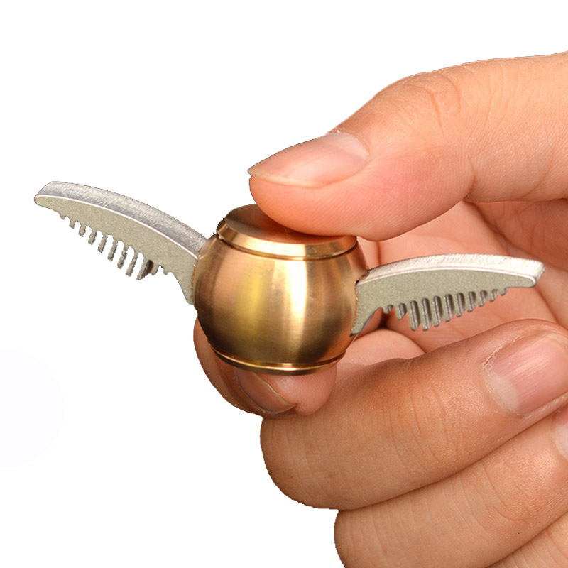 Quidditch Cool Spinner Toys Metal Brass Hand Spinner Metal Finger Spinner Metal Gold Figet Spiner Fidget Toys Kids