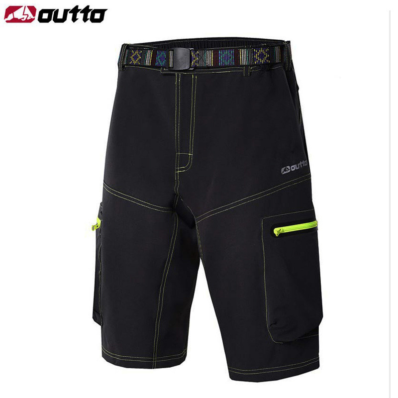 OUTTO Men's Cycling Shorts Mountain Downhill MTB Bike Shorts for Outdoor SportsCamping Bicycle Adjustable Waist Shorts M-XXXL frilled waist raw hem shorts