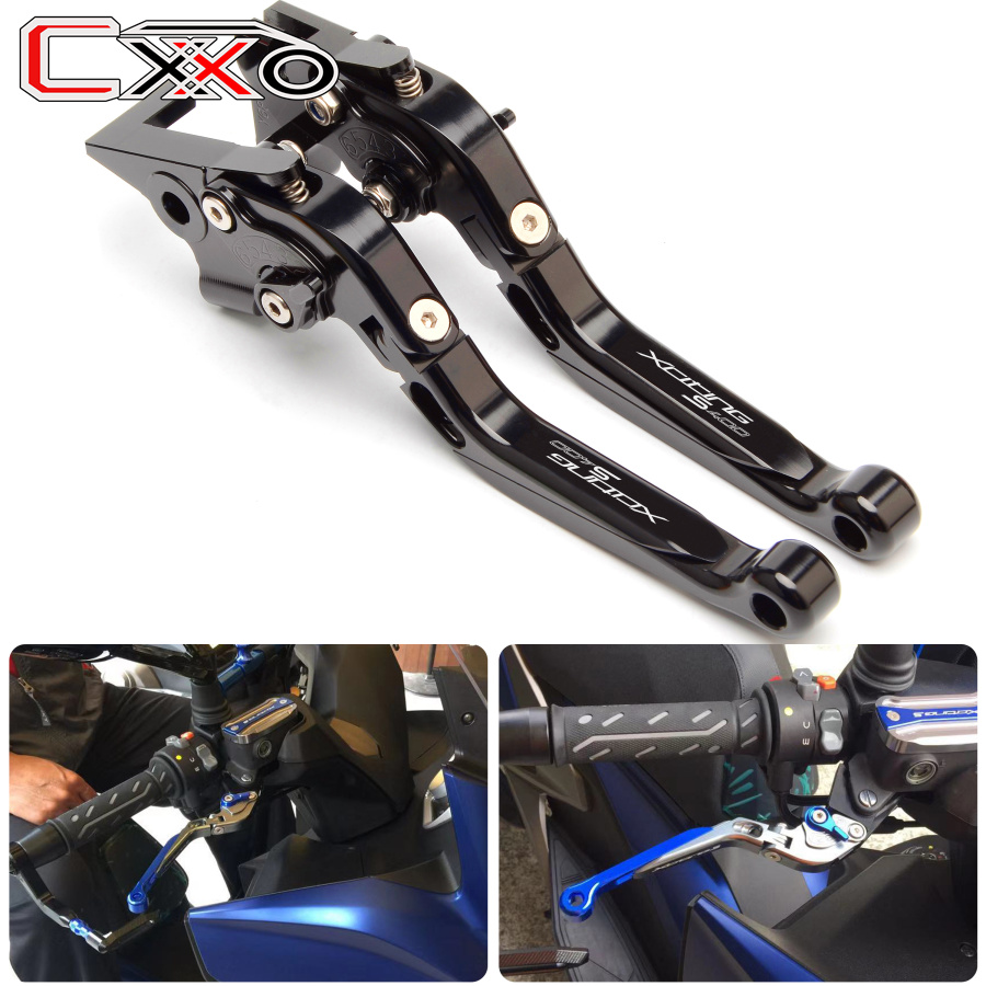 Top selling Motocycle Folding Extendable CNC Adjustable Clutch Brake Levers For KYMCO XCITING S 400 xciting
