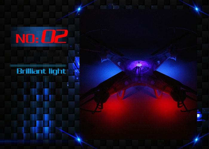 D2a New Arrival Top Selling FY326 Q7 2.4G 6-Axis Gyro 4-CH UFO RC Quad-copter RC Quadcopter Helicopter with LED Colorful Lights