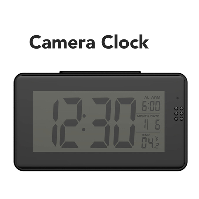 US $49 99 |Full hd 1080p wifi p2p camera clock, app control baby monitor  digital video amera-in Mini Camcorders from Consumer Electronics on