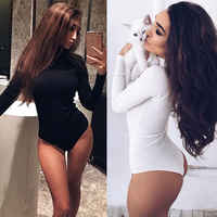 2019 neue ankunft solide frauen Langarm Stretch Body Damen Bluse Körper Trikot Top T-shirt