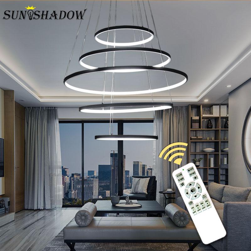 Modern LED Pendant Light Home Hanging Lamp Circle LED Pendant Lamp For Living room Dining room