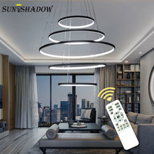 Modern LED Pendant Light Home Hanging Lamp Circle LED Pendant Lamp For Living room Dining room Bedroom Kitchen Lighting Fixtures