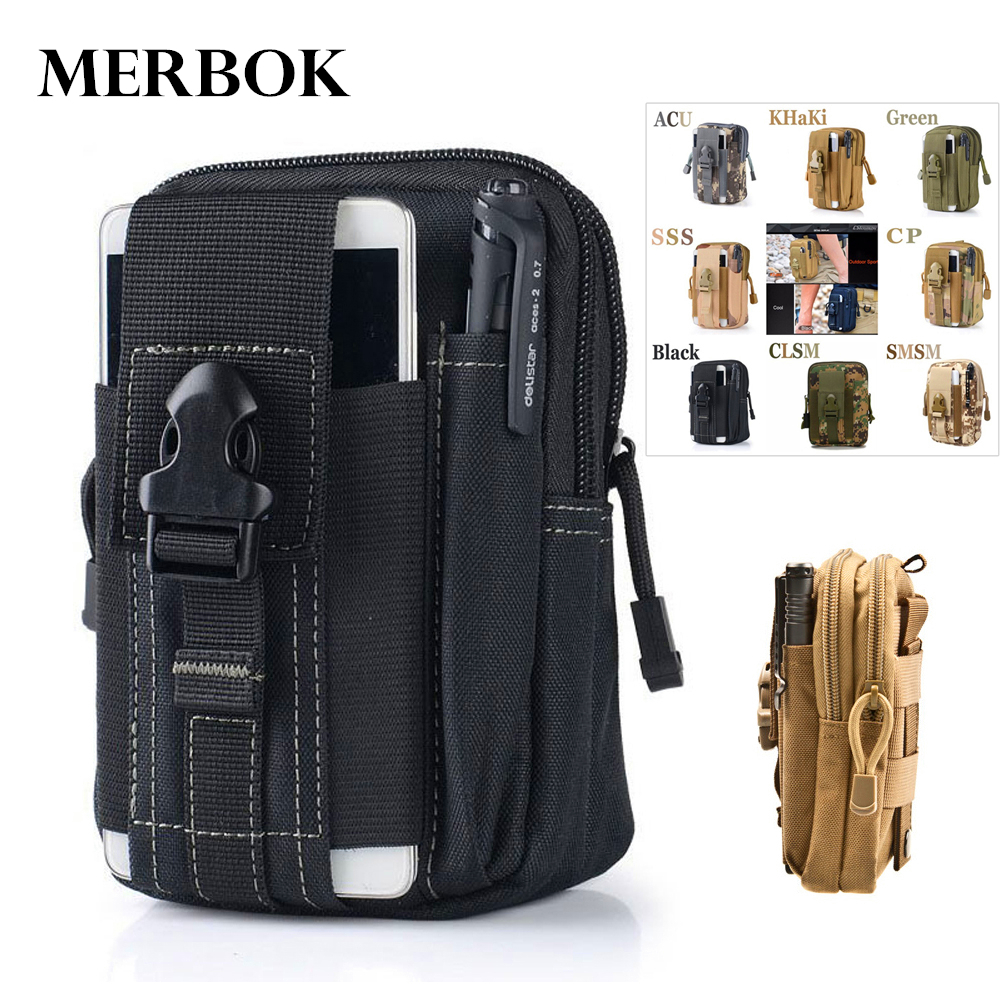 Outdoor Sport Pouch Molle Waist Pack Purse Mobile Phone Bag For <font><b>HomTom</b></font> H10 / H <font><b>10</b></font> / S8 S 8 / S99 S 99 / HT5 HT 5 Flip Cover Case image