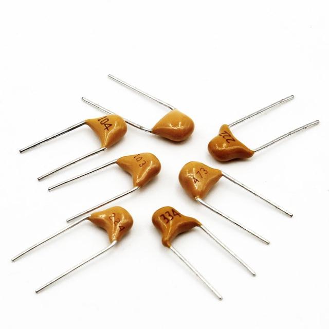 Condensateurs 5000 pièces MLCC 50V 20/100pF 10/47nF 0.1/1uF 20pF-1uF condensateur céramique monolithique multicouche au plomb pas 5.08MM