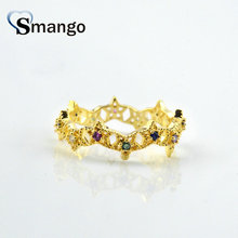 5Pieces Women Fashion Jewelry,The Rainbow Series,The Stars Rings,Gold Color, Can Wholesale