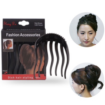 Female Horsetail Combs Volume Inserts Hair Clip Bouffant Ponytail Maker Braid Tool Hair Comb Headwear Hair Accessories For Women