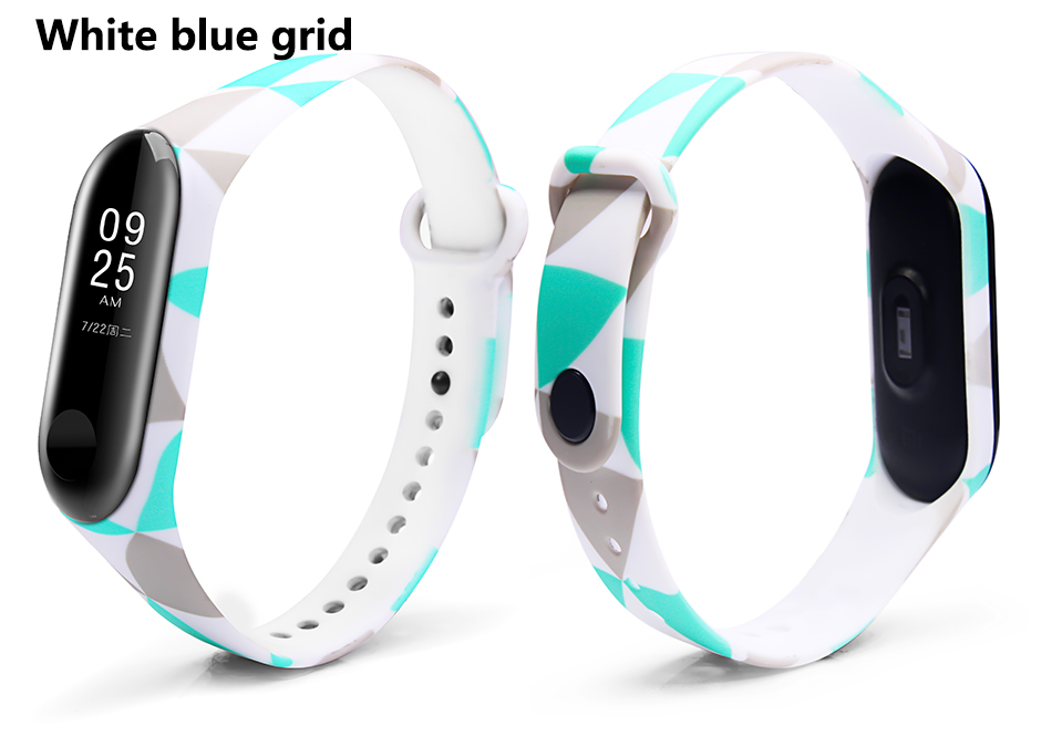 White blue grid