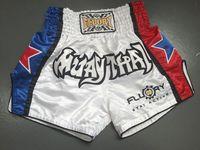 Estrella azul y rojo muay thai pantalones cortos