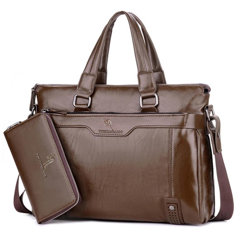 YUES KANGAROO Novi čovjek torbu kožna Business Messenger Bag - Torbe - Foto 3