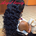 Hot Angel Beauty Hair 7A Unprocessed Wet And Wavy Virgin Brazilian Hair 1 Bundles Curly Style Deep Wave Brazilian Hair Extension