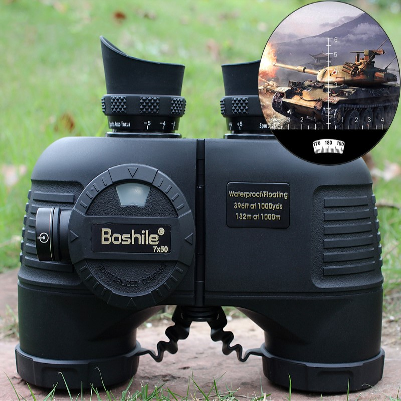 HD 7X50 Military Marine Binoculars Zoom Telescope Power Definition Hunting Spotting Nitrogen Waterproof Outdoor Monoculars стоимость