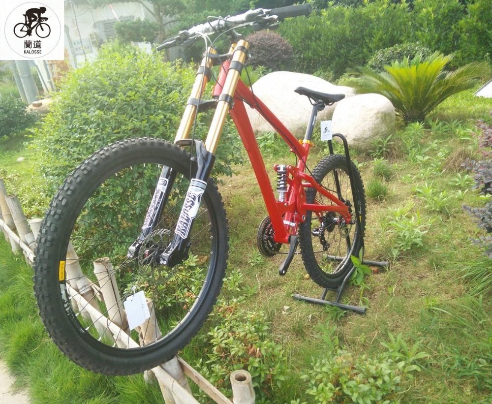 Kalosse Full Suspension Dh Downhill Mountain Bike 26 Inch