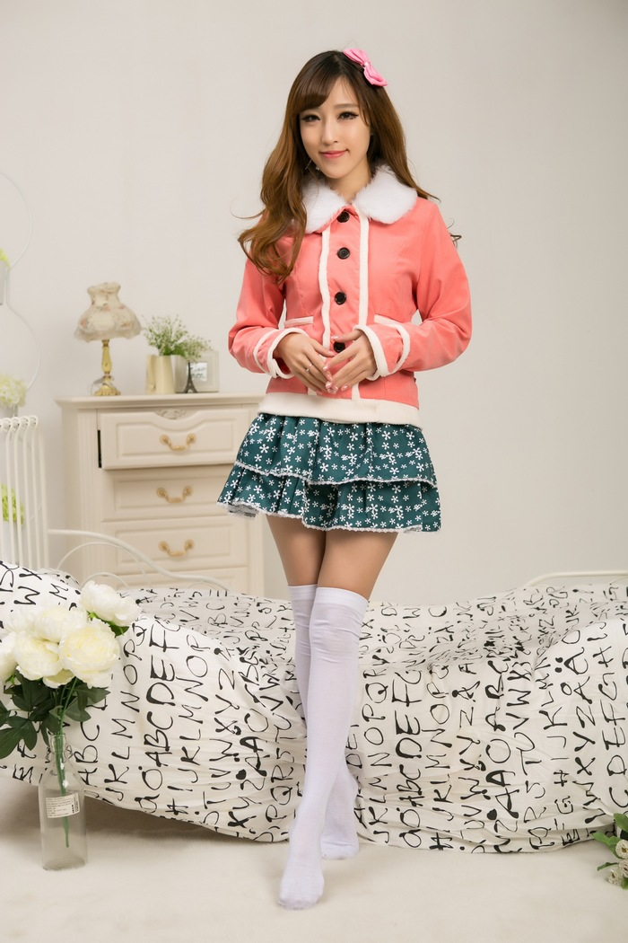 Love Live Minami Kotori Cosplay Costumes Cute Girls Winter Thick Jacket With Skirt Student Schhol Uniform Outfit