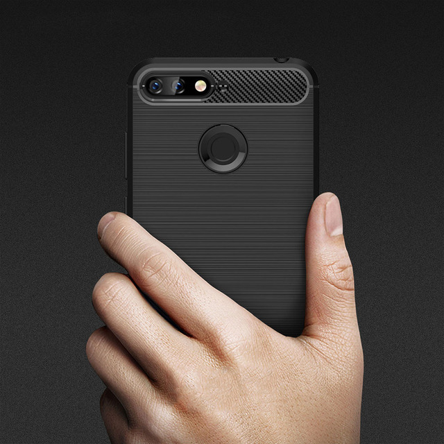Carbon Fiber Coque Cover 5.7For Huawei Honor 7C Case For Huawei Honor 7C Honor7C Pro AUM-L41 AUM L41 Phone Back Coque Cover Case