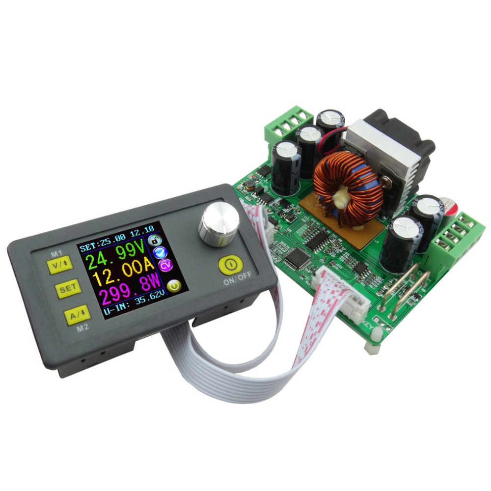DPS3012 Constant Voltage Current Step-down Programmable Power Supply Voltage Converter LCD Voltmeter Communication Function constant digital voltage current meter step down dp50v2a voltage regulator supply module buck color lcd display converter