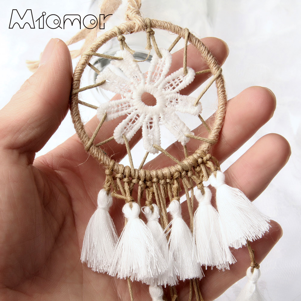 MIAMOR Handmade Multi-colored Mini Dreamcatcher With Tassel Bag&Cafe&Bar&Wedding&Home Wall Hanging Pendant Decor Gift AMOR04583