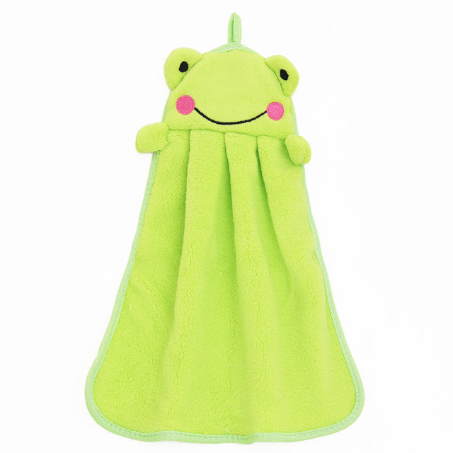Bathing Children Nursery Towel Wipe Adorable Cartoon Duck Frog Panda Animal Hanging Child Baby Soft Plush Fabric