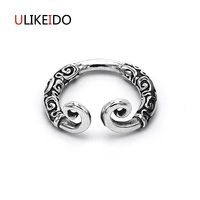 Real 925 Sterling Silver Jewelry WuKong Rings Classic Adjust Thai Silver Ring For Lovers' Birthday Christmas Gift 545