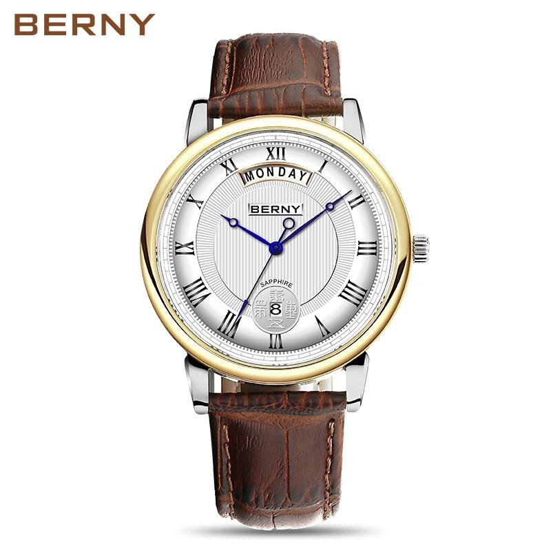 Berny Cuarzo Amante Relojes Moda Top Marca de Lujo Relogio Saat - Relojes para hombres - foto 2