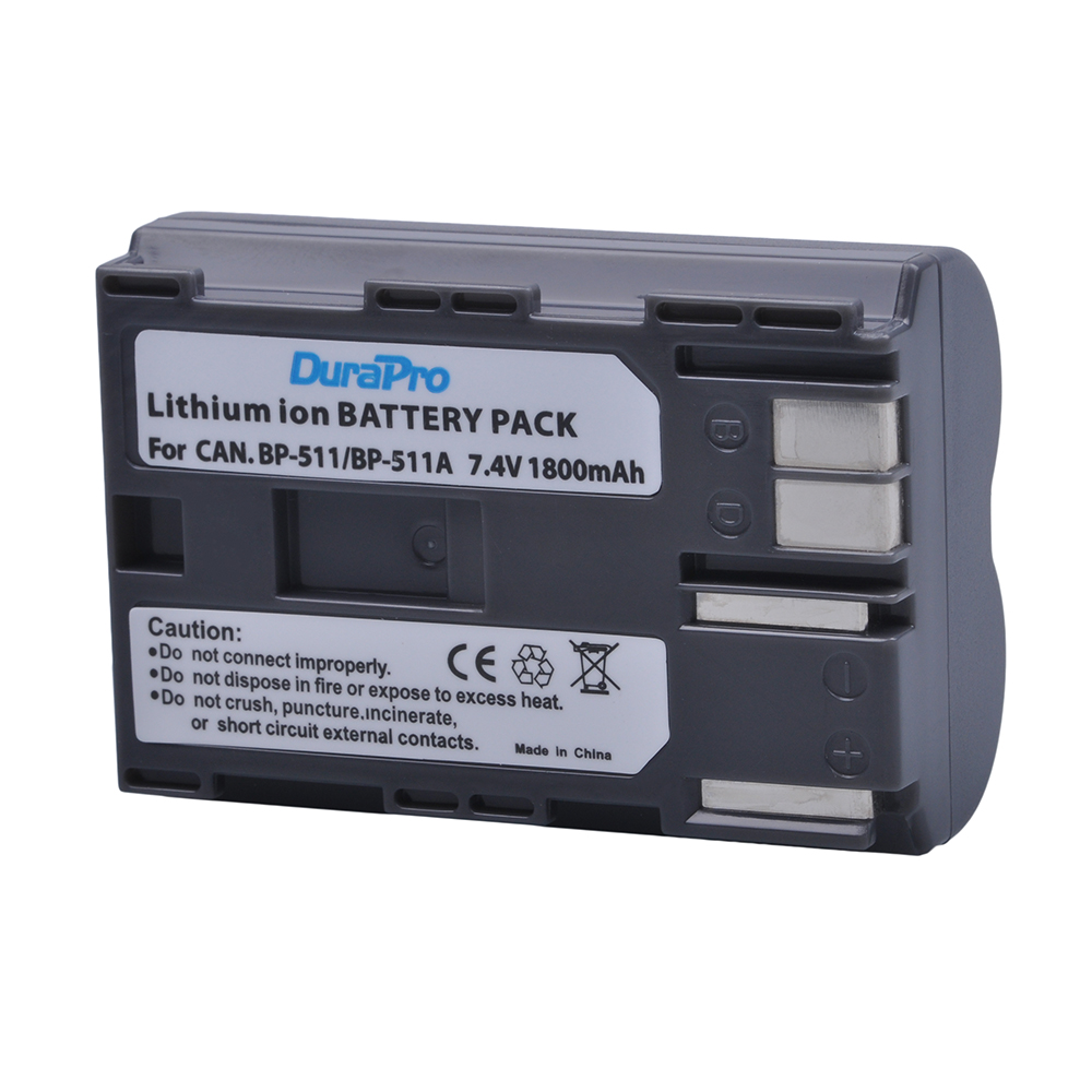 Battery for Canon BP-511 MV550i DM-MV430 BP-508 PowerShot Pro 90 Powershot G6 BP