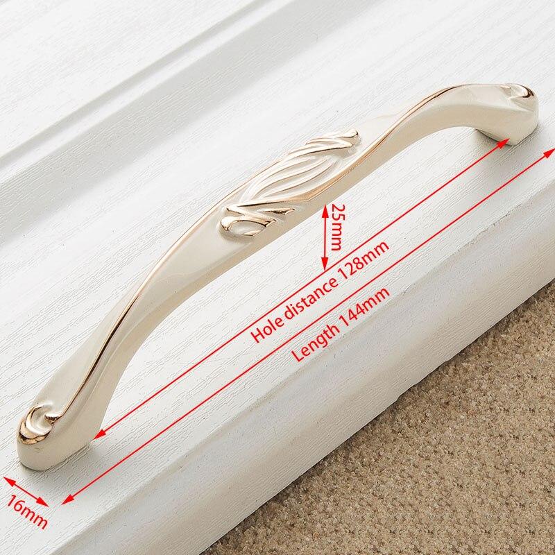 KAK цинк Aolly цвета слоновой кости ручки для шкафа кухонный шкаф дверные ручки для выдвижных ящиков Европейская мода оборудование для обработки мебели - Цвет: Handle-8809W-128