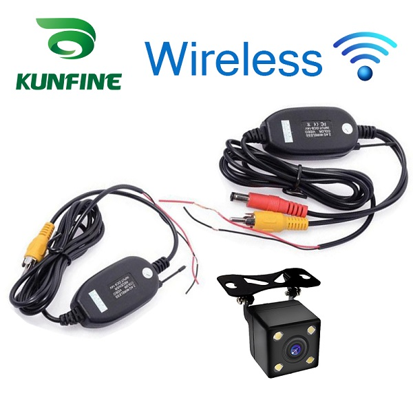 Wireless Universal Waterproof Rear View Camera with 4 LED Car Back Reverse Camera RCA Night Vision Parking Assistance Cameras