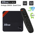Novo 1 GB 8 GB S905X X9 Pro Android 6.0 Caixa de TV inteligente Amlogic Octa núcleo X9pro Smart Media Player Wifi 4 K TV box set top box VS CSA93