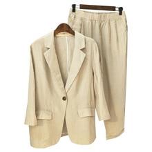plus size Women Casual Linen suit Women Formal Suits