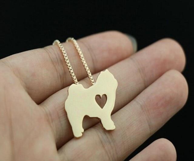 Фото прямая поставка 1 шт летняя мода cutechow chow ожерелье с собакой