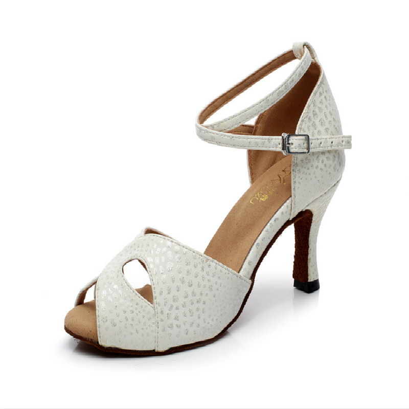 Brand Soft Sole Modern Woman Latin Dance Shoes Party Ballroom Dancing Shoes Printing Flesh Color Sexy Social Sneakers Buckle Hot shoes woman latin shoes high heel 6 cm adult female latin dance shoes modern ballroom dancing h2112 t15 0 5