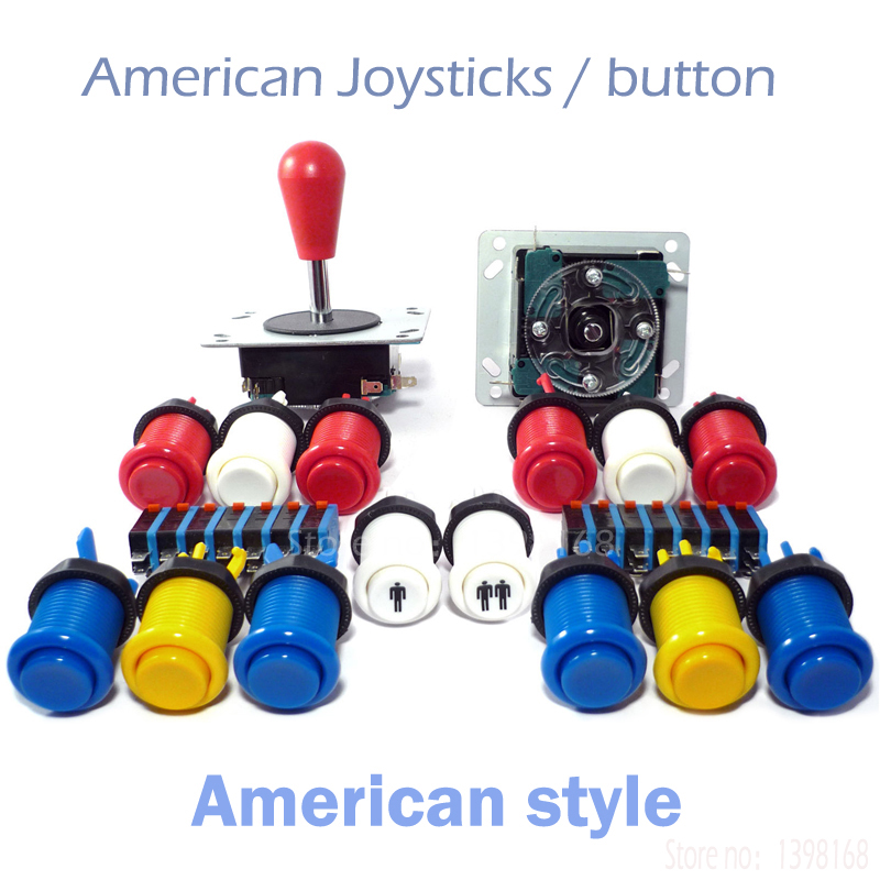 Arcade Cabinet American Joysticks microswitch button 2 players & Buttons Control Kit / Arcade mame DIY KIT JAMMA