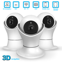 1080P Wifi IP Camera Fisheye 360 Degree CCTV Security Surveillance Camera 2MP Indoor Night Vision CCTV