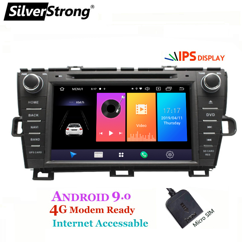 SilverStrong 8inch Android9 0 Car DVD for Toyota Prius dvd Left hand right hand Radio 4G