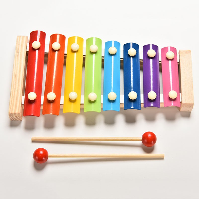 8-Note Wooden Instrumen For Baby children kid play learning Early Educational Wisdom Development Toy Musical Instrument for gift