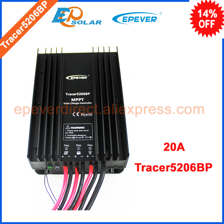 20A mppt solar charge 12v 24v auto work controller regulator Tracer5206BP solar tracking series 20AMP apply for lithium battery city of glass