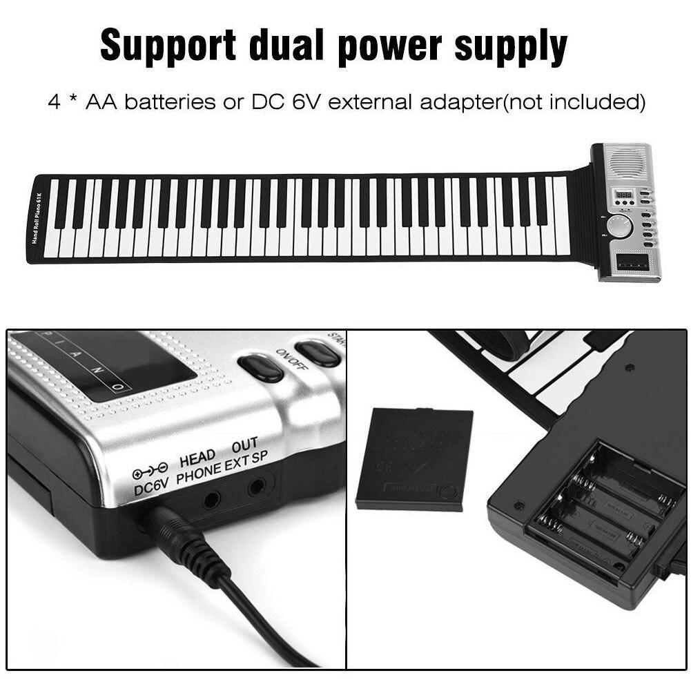 Enfants 61 clés retroussable Piano cadeau enregistrement jouets clavier électronique musique Instrument de musique USB MIDI