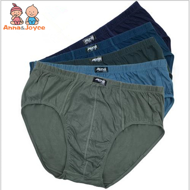 0c64a34ea7d Men's Underwear Cotton Briefs Largersize Briefs Middle-Waist Shorts  Underpants of Fat Person MNK0004