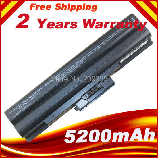5200mAh 6Cell Laptop Battery for SONY VAIO VGP-BPS13/S VGP-BPS13A/S VGP-BPS21/S VGP-BPL21A VGP-BPS13A/B VGP-BPS21B VGP-BPL13 2pcs dc laptop power cable adapter plug charger adapter line charging cable for sony fujitsu ln003456 vaio vgp ac19v10 vgp 19v11