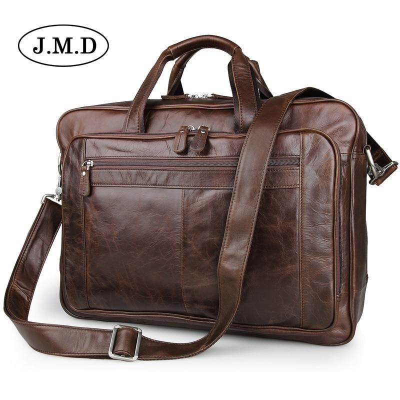 Подробнее о J.M.D Men messenger bags genuine leather bag briefcase designer handbags high quality famous brand 17