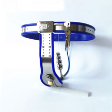 blue silicone liner stainless steel chastity belt female pants with anal plug fetish wear sex toys products for woman bdsm