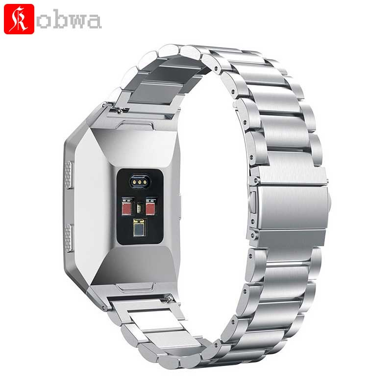 все цены на Kobwa Watch Strap Stainless Steel Watchband for Fitbit ionic Classic Buckle Bracelet Watch Band for fitbit ionic Smart Watch