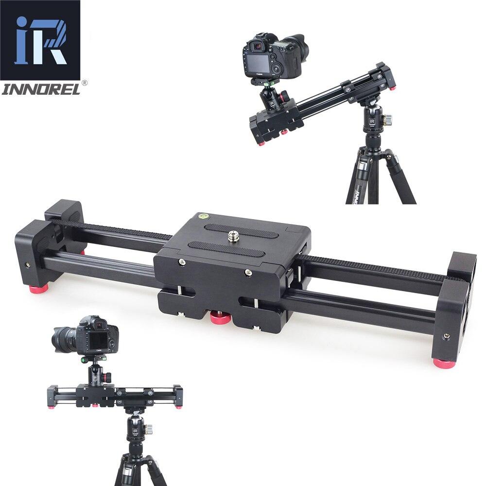 INNOREL DL40 Double Distance caméra curseur professionnel réglable Rail Dolly pour DSLR vidéo caméscope DV cinéaste piste magique
