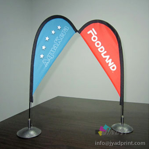 Cheap Mini Tabletop Desktop Bow Flag Banner Display Stand